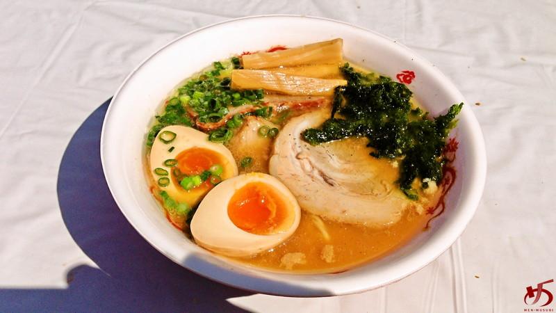 せたが屋@おおいたラーメン博 三つ巴チャーシュー麺 2014年3月